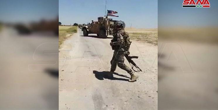 ارتش سوریه راه را بر کاروان نظامی آمریکا بست