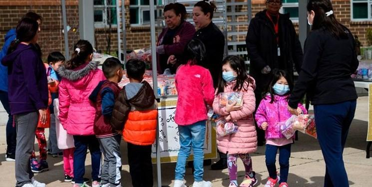 سی ان ان: بچه ها آمریکایی نیازمند دریافت بسته های کمکی تغذیه ای هستند