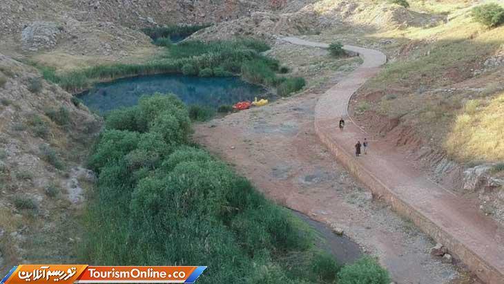 اجرای عملیات فاز دوم محوطه سازی منطقه گردشگری دریاچه دوقلوی آبدانان