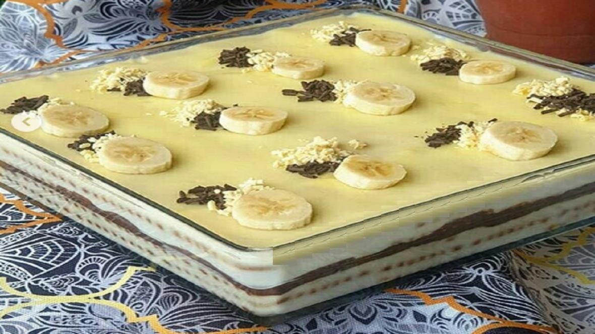 طرز تهیه کیک بیسکویت پودینگ