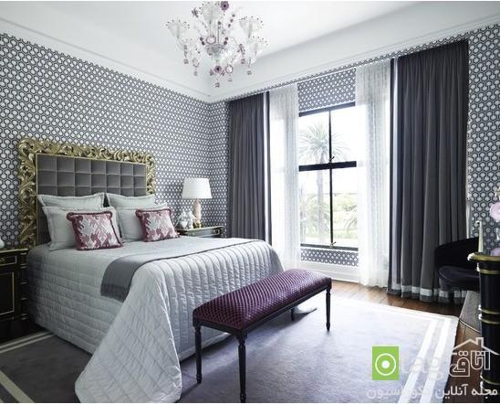 طراحی اتاق خواب به سبک فرانسوی با دکوراسیونی لوکس و زیبا