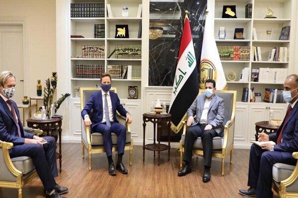 الاعرجی با سفیر انگلیس در بغداد ملاقات کرد