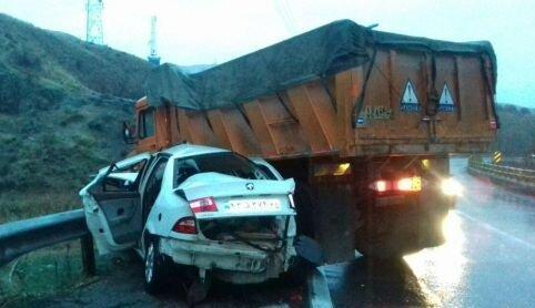 تصادف رانندگی با 5 کشته در محور کرمانشاه-کامیاران