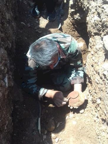 کشف گور 3هزارساله در منطقه چیتاب