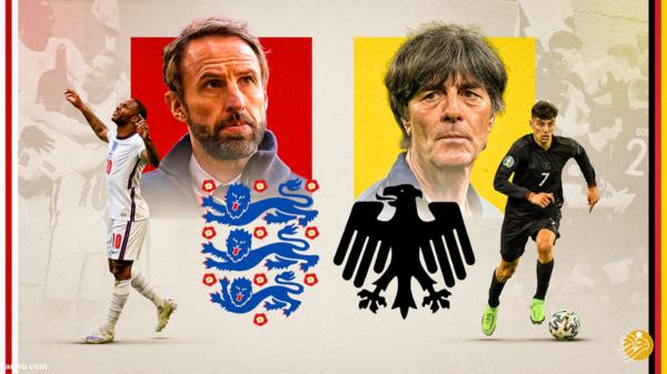 ساعت بازی فوتبال انگلیس - آلمان در یورو 2020