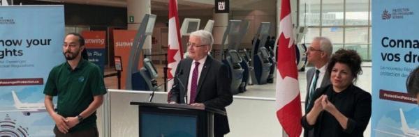 وزیر حمل و نقل کانادا از وضع قوانین نو در حمایت از حقوق مسافران هوایی خبر داد