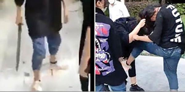 فیلم جنجالی هلیا دختر قمه کش در روز اول مهر ، در جهت مدرسه چه گذشت؟